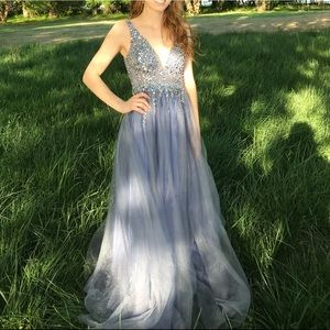 Lavender blue prom dress